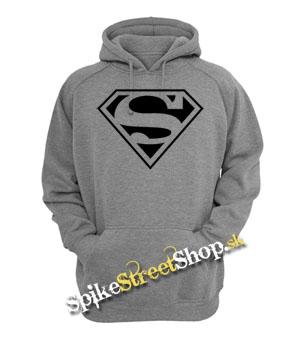 SUPERMAN - Logo - šedá pánska mikina (-40% VÝPREDAJ) 2235e96692