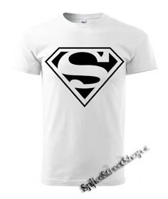 0da53cb8f6fd SUPERMAN - Black Logo - biele pánske tričko (-30% VÝPREDAJ)