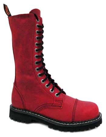 Červené 14-dierkové kožené topánky KMM v SpikeStreetShop.sk 20d1d46a908