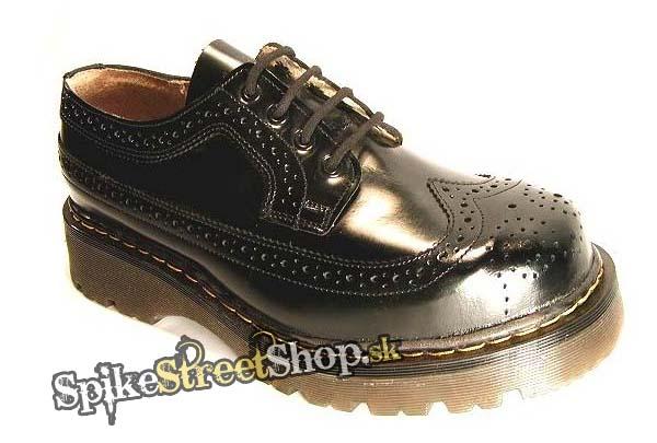 349d9aa87a1d Topánky STEEL - AL CAPONE - ČIERNE - 4 dierkové