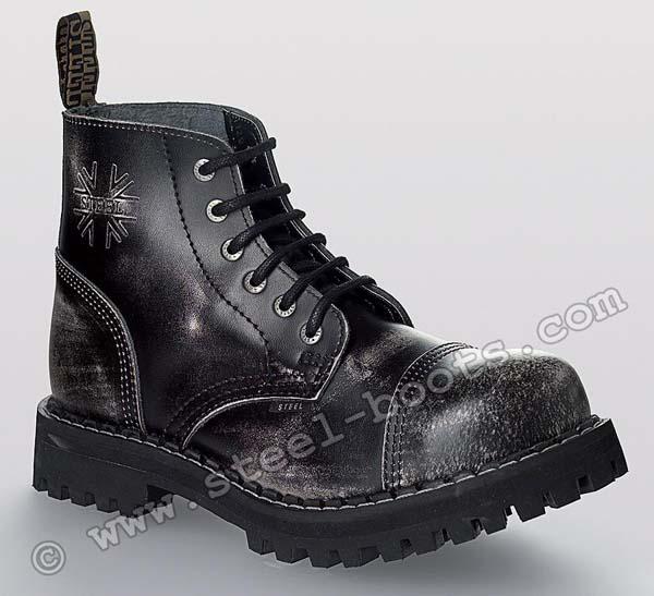 6 - dierkové topánky STEEL - BIELE 687352c3c9