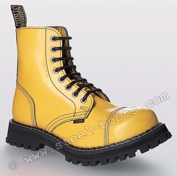 eb0b999b30426 Topánky STEEL - PLNOŽLTÉ - 8 dierkové