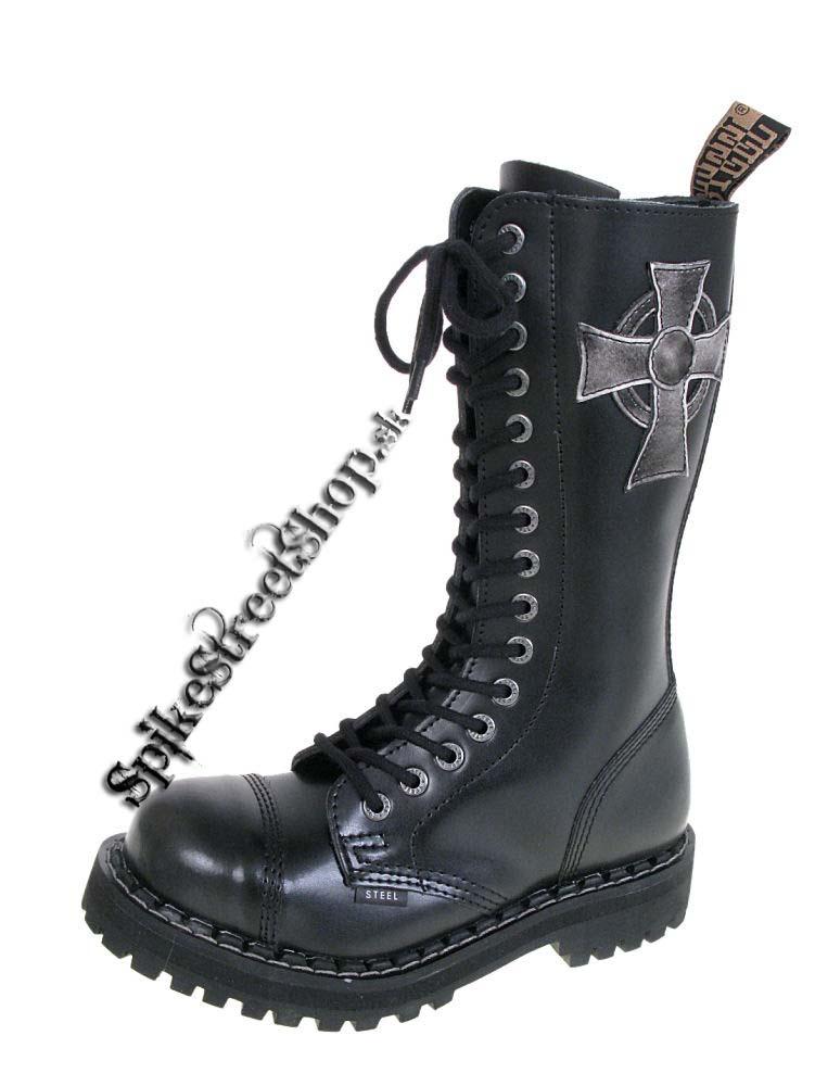 15 - dierkové topánky STEEL - BLACK CROSS - MALTÉZSKY KRÍŽ 5c3b922c08a