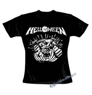 b904a1807c7e HELLOWEEN - Metal Pumpkin Head - čierne dámske tričko
