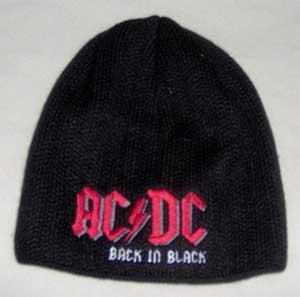 fe1a6585d AC/DC - čierna zimná čiapka