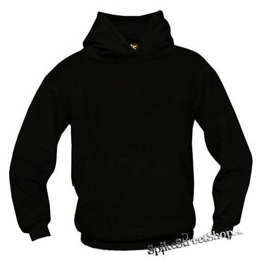 Čistá čierna mikina bez potlače s kapucňou 2d9c8864d5f