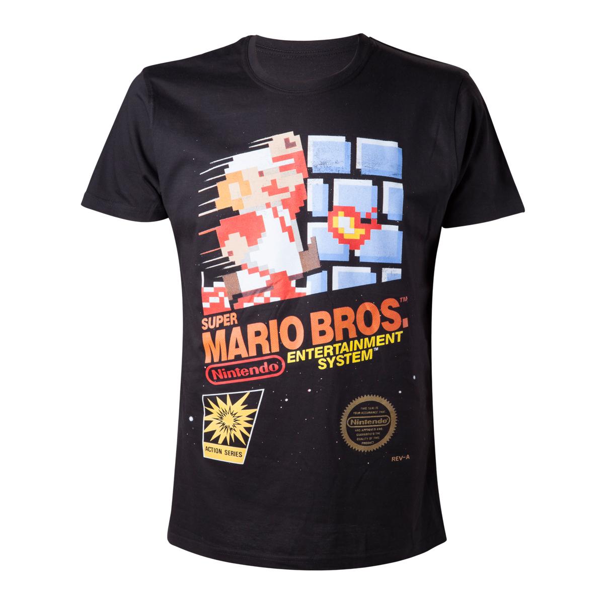 NINTENDO - Super Mario Bros T-Shirt - čierne pánske tričko d2149ac0830