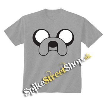 561d67090ea3 Šedé chlapčenské tričko ADVENTURE TIME v SpikeStreetShop.sk