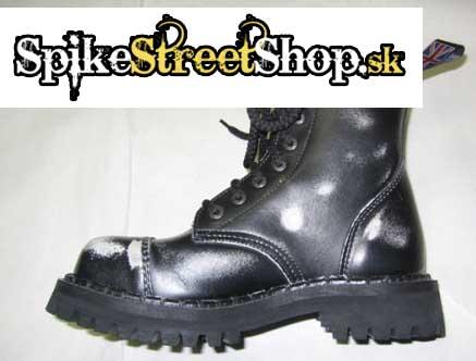 6 - dierkové topánky STEADY´S - čiernobiele 8bd4218b15