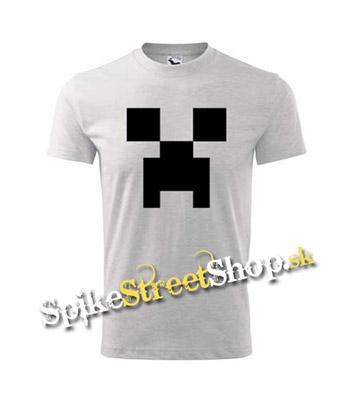 0df5b75e81e1 Šedé chlapčenské tričko MINECRAFT v SpikeStreetShop.sk