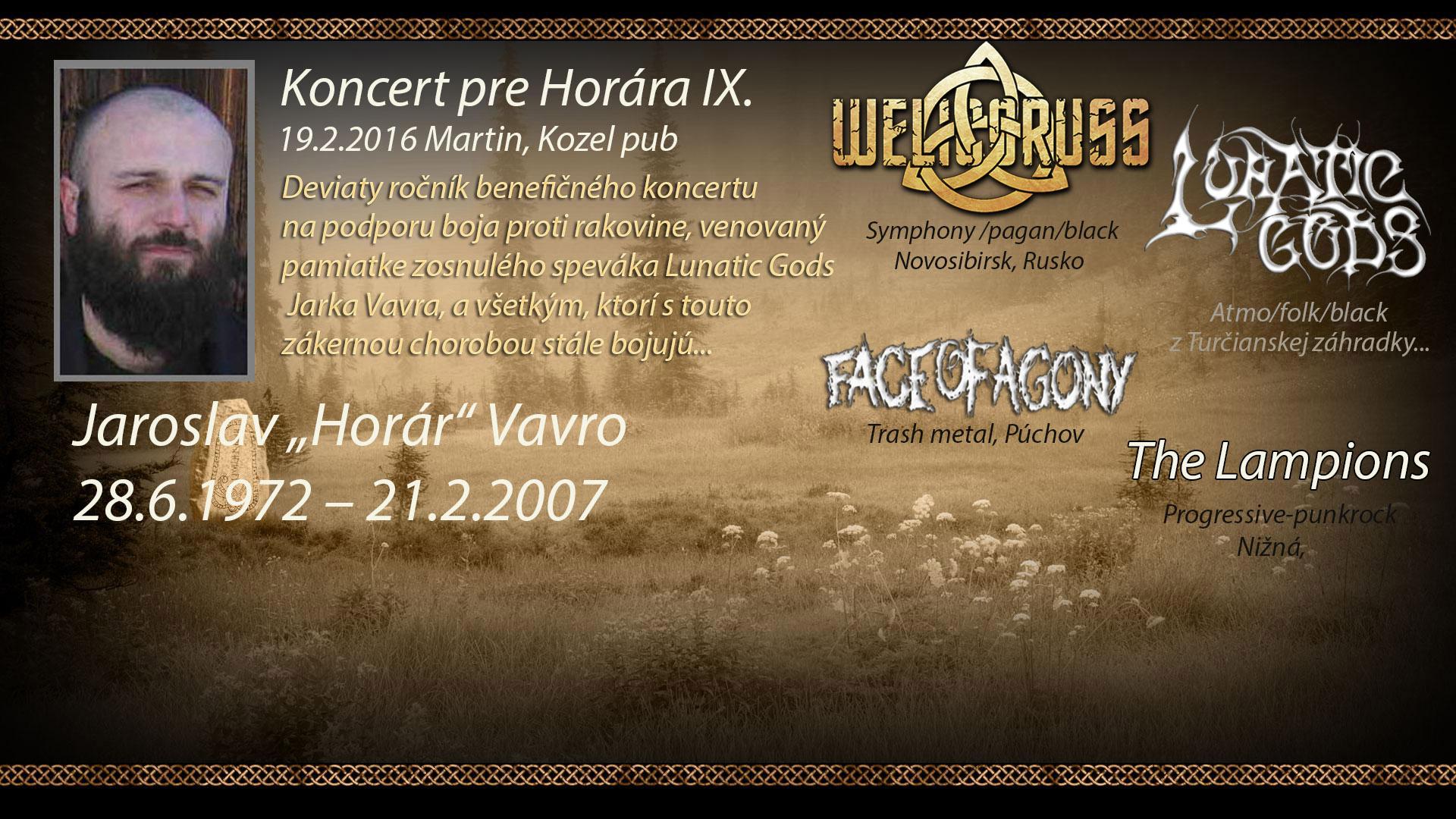 Koncert pre Horára 2016