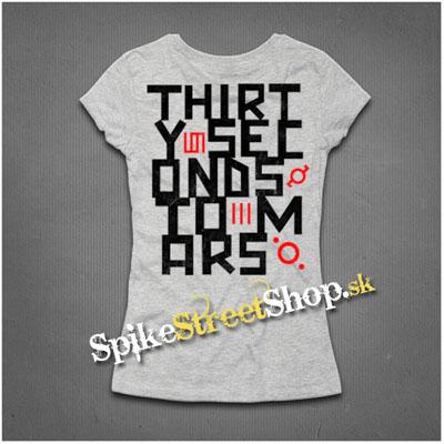 fea515cdb7ee Sivé dámske tričká 30 SECONDS TO MARS v SpikeStreetShop.sk