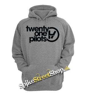 TWENTY ONE PILOTS - Logo - šedá pánska mikina dc5264dcaba