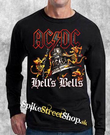 fd2e74425b AC DC - Hells Bells Coloured - čierne pánske tričko s dlhými rukávmi