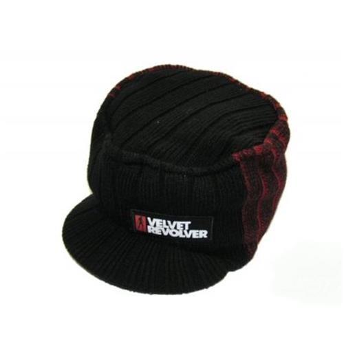 dc72fd86a VELVET REVOLVER - Patched Black Red Beanie - zimná čiapka so šiltom