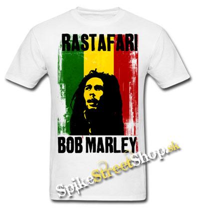 Biele pánske tričko BOB MARLEY v SpikeStreetShope e704d5d8e7