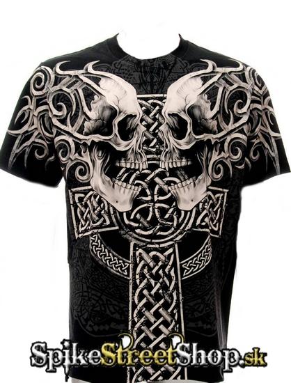 3351e595f7e6 GOTHIC COLLECTION - Celtic Cross Protectors - čierne pánske tričko