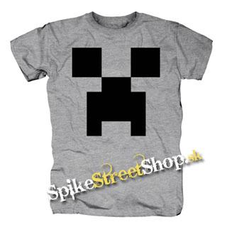 754f75136b30 Šedé pánske tričko MINECRAFT v SpikeStreetShop.sk