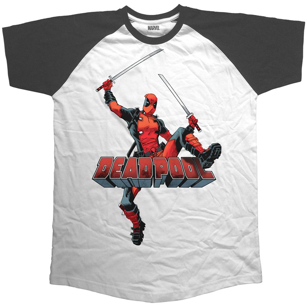 e565c8bbdb28 Pánske tričko MARVEL COMICS - Deadpool Logo Jump v SpikeStreetShop.sk