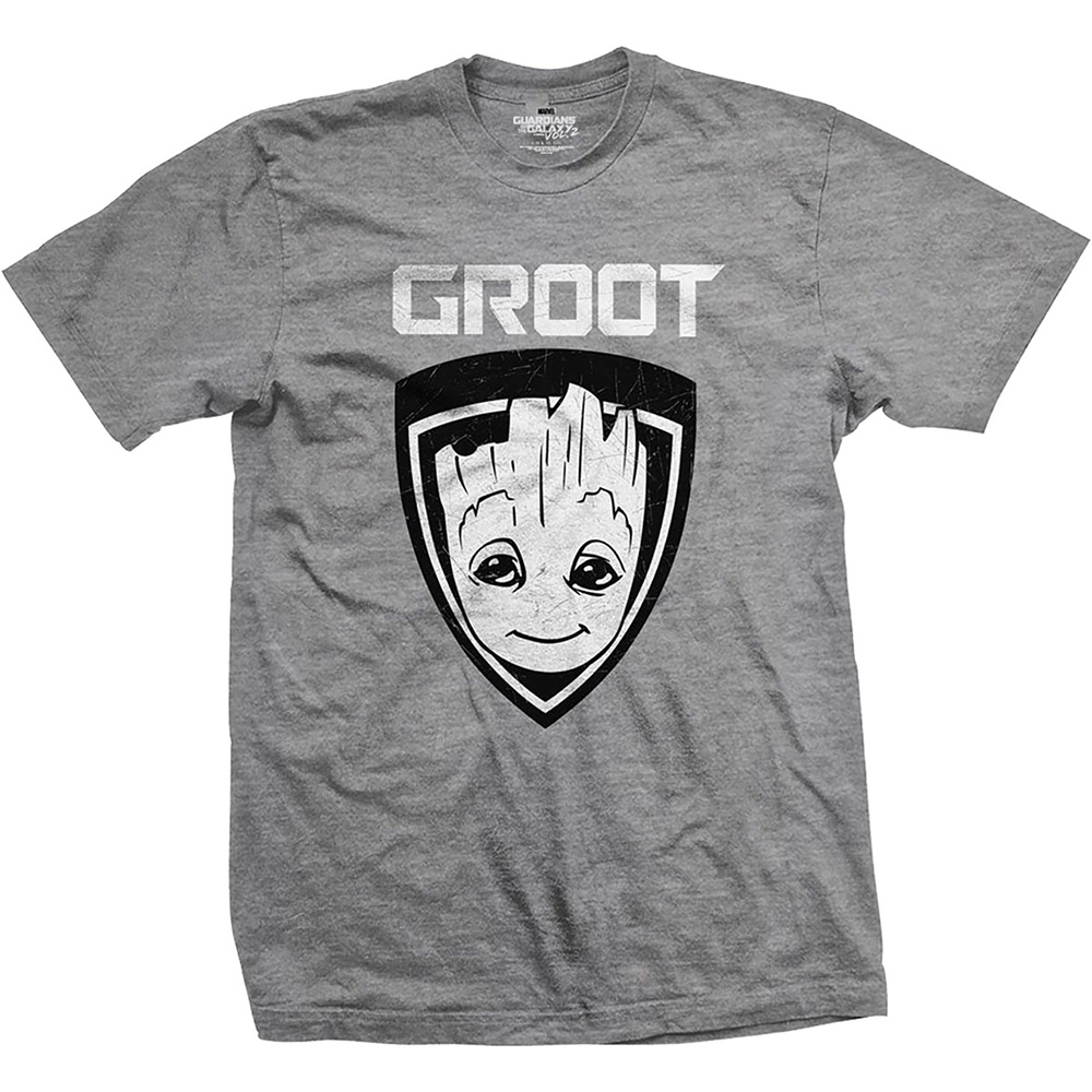 e1ce54bbfe07 MARVEL COMICS - Guardians of the Galaxy Vol. 2 Groot - sivé pánske tričko