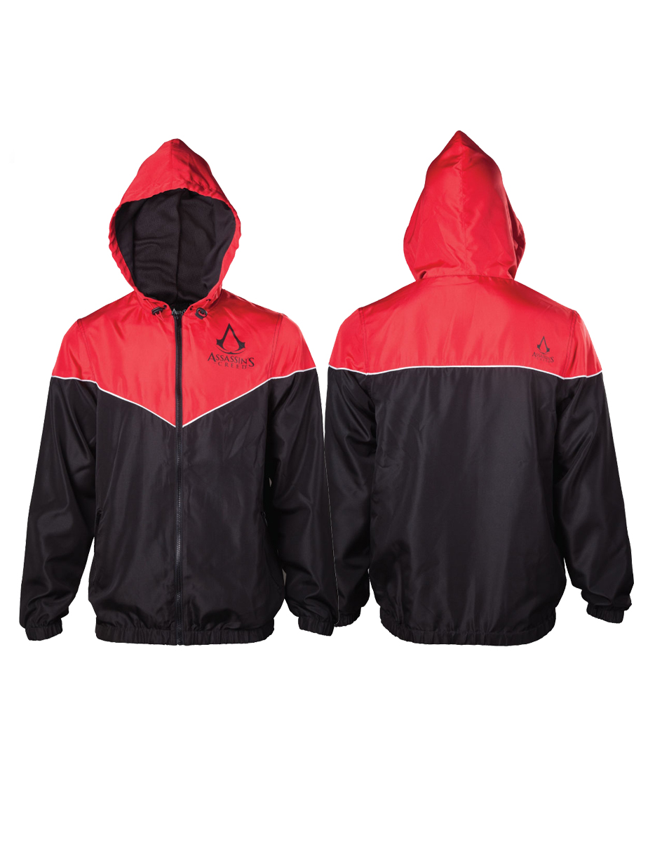 83c20278aece ASSASSINS CREED - Red black Windbreaker Jacket - čierna pánska bunda