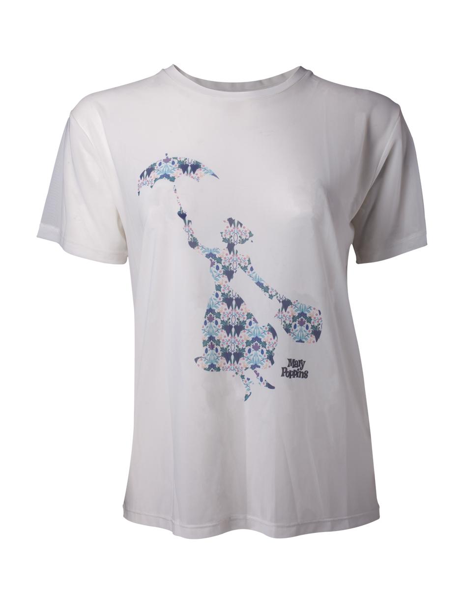 6b80d6d6978a DISNEY - Mary Poppins Sublimation Mesh Women s T-shirt - biele dámske tričko