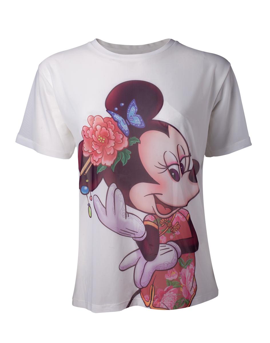 1551a71af787 DISNEY - Minnie Mouse Sublimation Printed Women s T-shirt - biele dámske  tričko