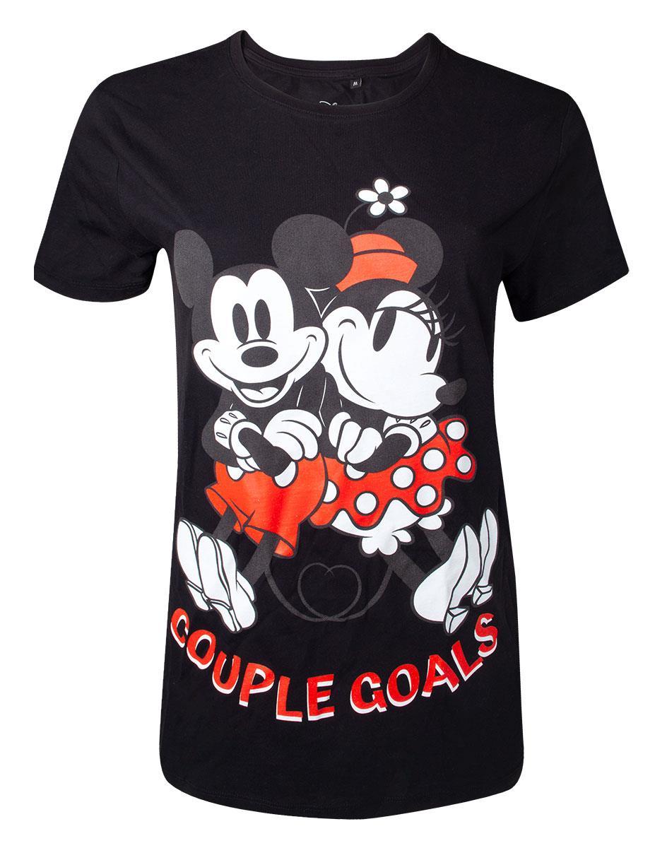 404e4c923577 DISNEY - Mickey Mouse Couple Goals Unisex T-shirt - čierne dámske tričko