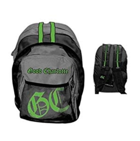 GOOD CHARLOTTE - Grey and Green Backpack - ruksak (Výpredaj)