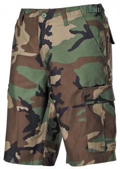 44d58876935d ARMY kraťasy - maskáčové nohavice KHAKI (Woodland-Camo)