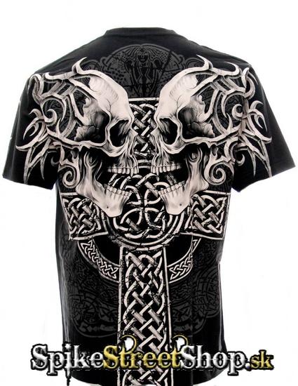 c2d1bacd6c65 Čierne pánske tričko GOTHIC COLLECTION - Celtic Cross Protectors