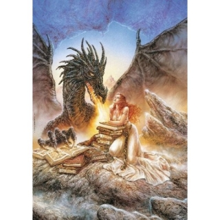 FANTASY MOTIVES - Girl & Dragon - puzzle