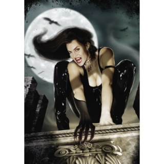 FANTASY MOTIVES - Vampire Girl On The Roof - puzzle
