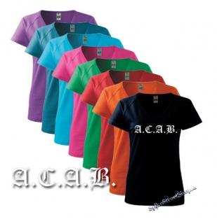 fe10c3a33998 A.C.A.B. - farebné dámske tričko (-30% VÝPREDAJ)
