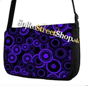 Retro taška FLOWER EVOLUTION - Blue Circle Street Bag
