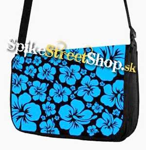 Retro taška FLOWER EVOLUTION - Blue Flower Street Bag