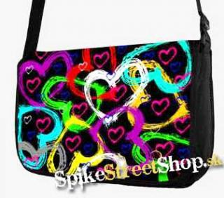 Retro taška FLOWER EVOLUTION - Colour Hearts Street Bag