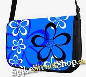 Retro taška FLOWER EVOLUTION - Flowers Blue Street Bag