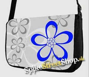 Retro taška FLOWER EVOLUTION - Flowers Grey Street Bag