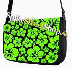 Retro taška FLOWER EVOLUTION - Green Flower Street Bag