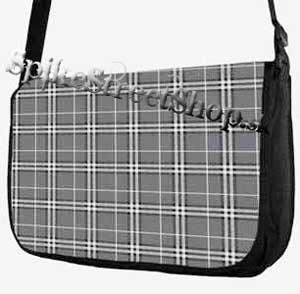 Retro taška FLOWER EVOLUTION - Grey Checked Street Bag