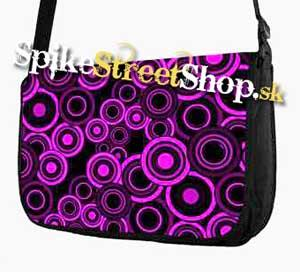 Retro taška FLOWER EVOLUTION - Purple Circle Street Bag