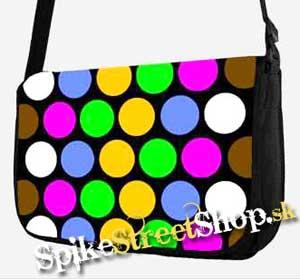 Retro taška FLOWER EVOLUTION - Colour Dots Street Bag