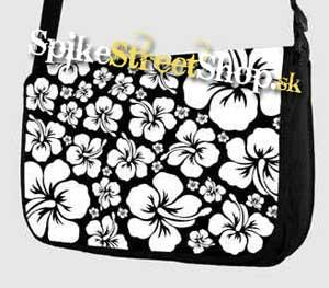 Retro taška FLOWER EVOLUTION - White Flower Street Bag