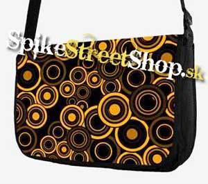 Retro taška FLOWER EVOLUTION - Yellow Circle Street Bag