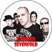 AVENGED SEVENFOLD - Band - White Motive - odznak