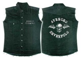 AVENGED SEVENFOLD - A7X Death Bat Sleeveless Work Shirt - košela bez rukávov