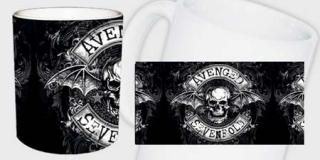Hrnček AVENGED SEVENFOLD - Black White Skull