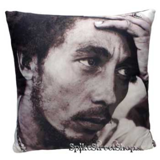 BOB MARLEY - Black/white photo - vankúš