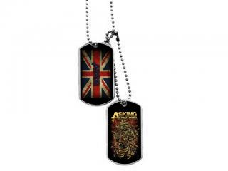ASKING ALEXANDRIA - UK flag/Mummy - psia známka